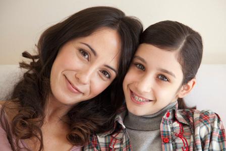 Mom with tween daughter