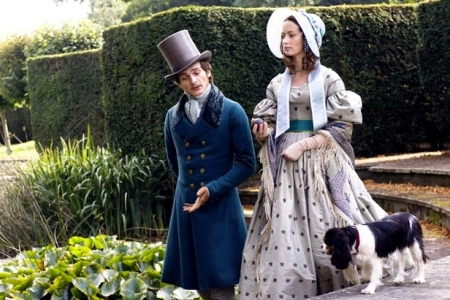 Emily Blunt as The Young Victoria and Rupert Friend take a walk