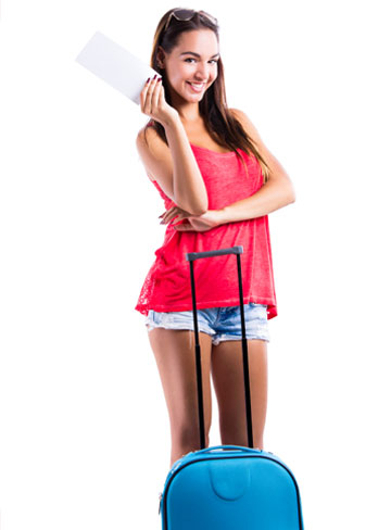 Young woman going on trip
