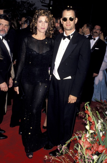 Tom Hanks and Rita Wilson at the 65th Academy Awards