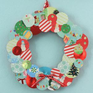 DIY scrap paper wreath