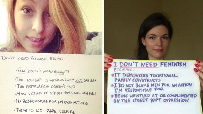 Are men behind the #WomenAgainstFeminism blog?