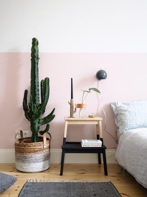 Half-Painted Pink Bedroom