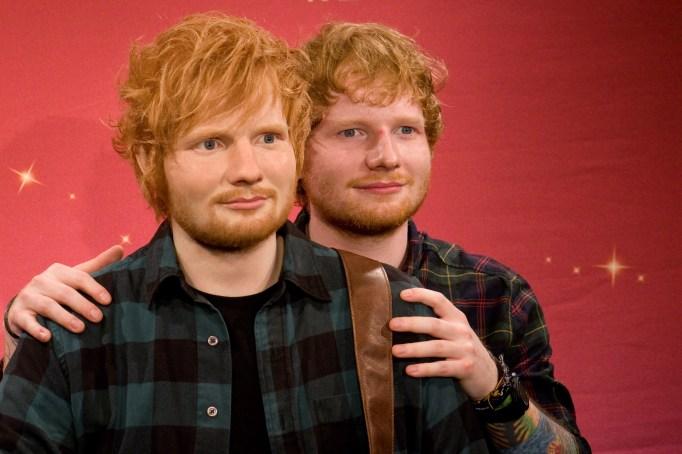 Ed Sheeran and his wax figure