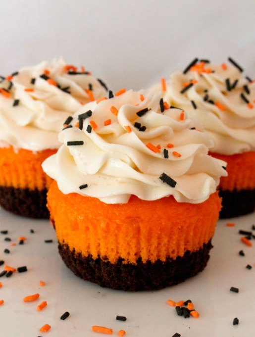 The Best Halloween Desserts on Pinterest: Festive and colorful cupcakes are scary-good