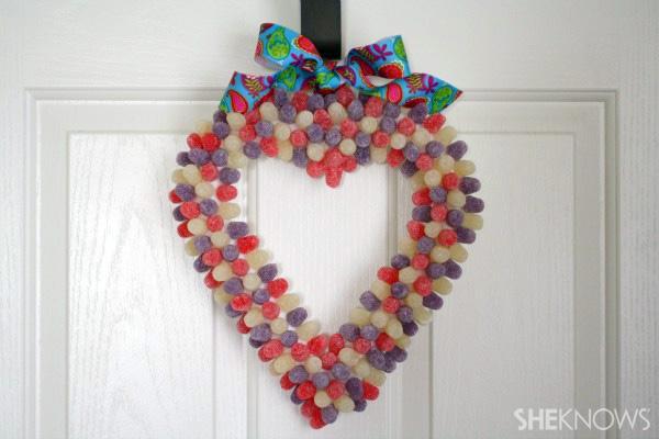 Make a Valentine's Day gumdrop wreath