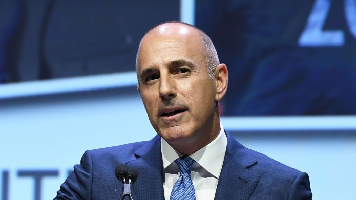 matt lauer speaking at event