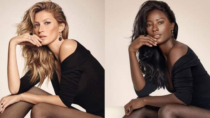 One model used Gigi Hadid &