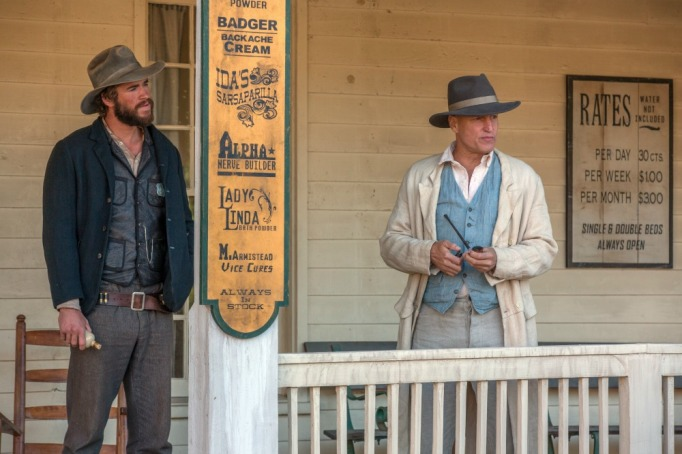 Liam Hemsworth and Woody Harrelson in The Duel