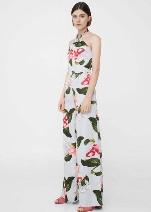 Dressy Jumpsuits: Mango Floral Halter Jumpsuit | Summer Fashion 2017