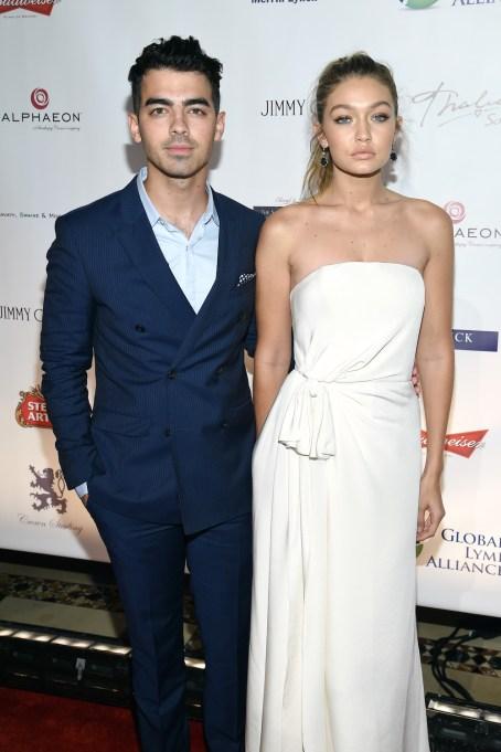 Joe Jonas and Gigi Hadid in October 2015