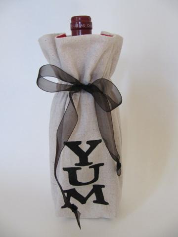 Message wine bag