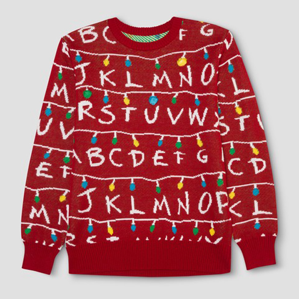 Quirkiest Gifts from Your Favorite Pop Culture Shows: 'Stranger Things' ugly holiday sweater