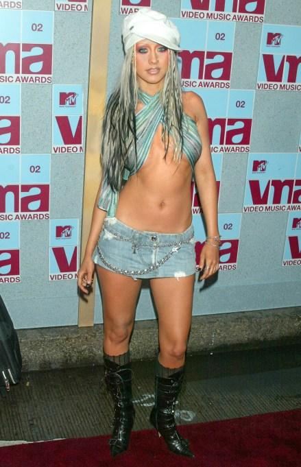 Christina Aguilera at the 2002 MTV Video Music Awards