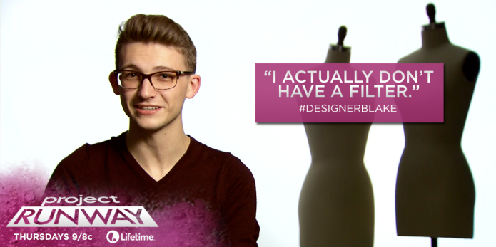Project Runway's Blake continues to anger