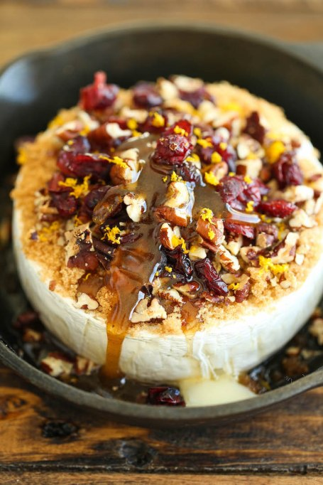 Cranberry-pecan baked brie