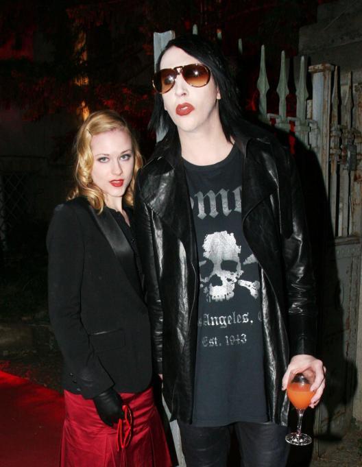 Evan Rachel Wood and her then fiance Marilyn Manson