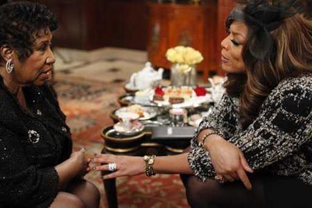 Aretha Franklin talks about 85-pound weight