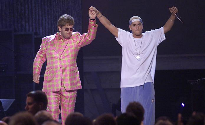 Unlikely BFFs Elton John & Eminem