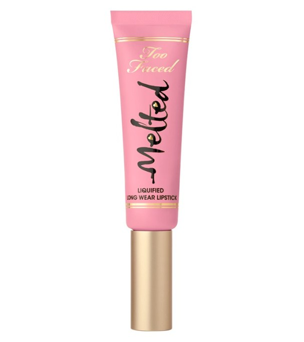 Celebrity-Inspired Ways to Wear Pink Lipstick | Too Faced Melted Liquified Longwear Lipstick in Melted Peony | Celeb Style Trends 2017