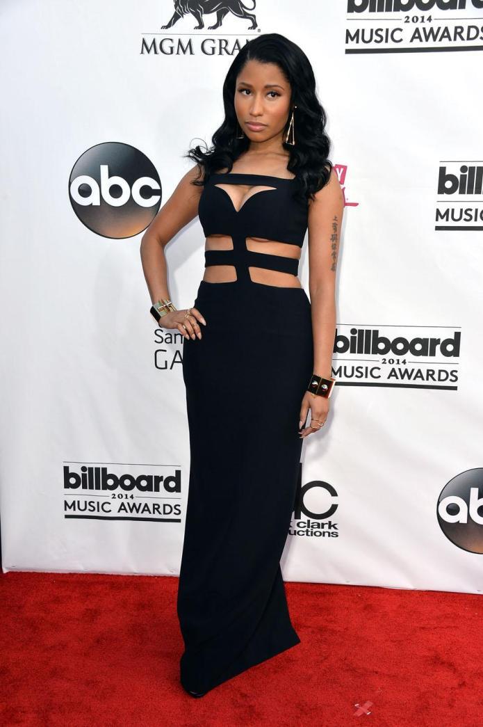Nicki Minaj plays peek-a-boo with her