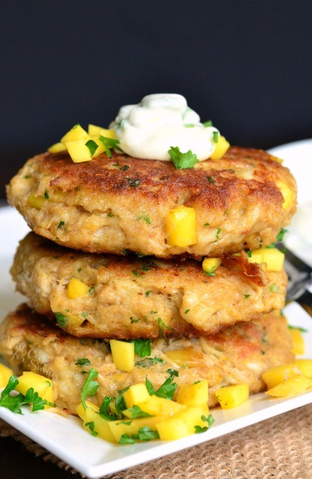 Spicy Mango Crab Cakes