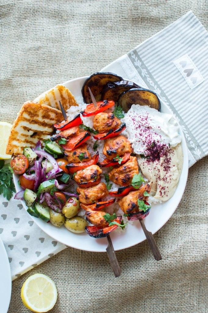 Turkish Chicken Shish Kebabs