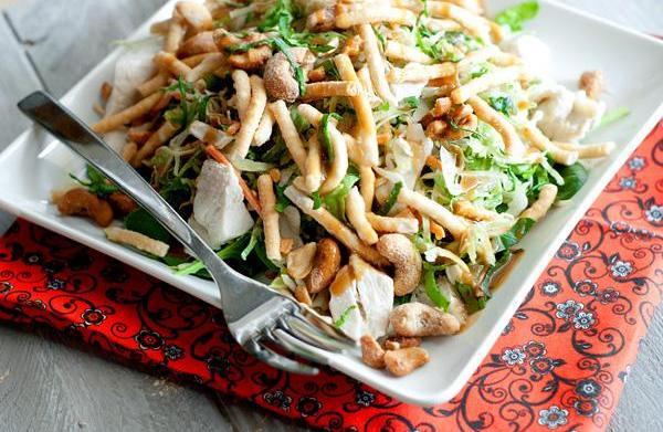 Warm Thai chicken salad with creamy