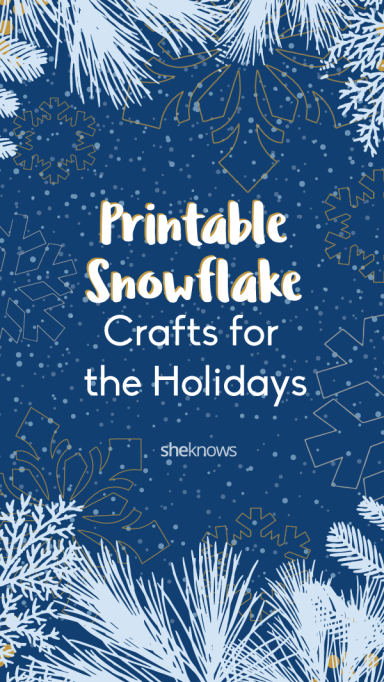 Pin it! Printable Snowflake Templates to Get You Through Any Snow Day
