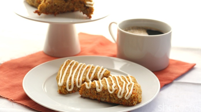 Carrot cake scones are a healthy,