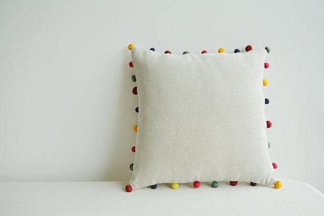 Unique Nursery Decor: Pom Pom Pillow