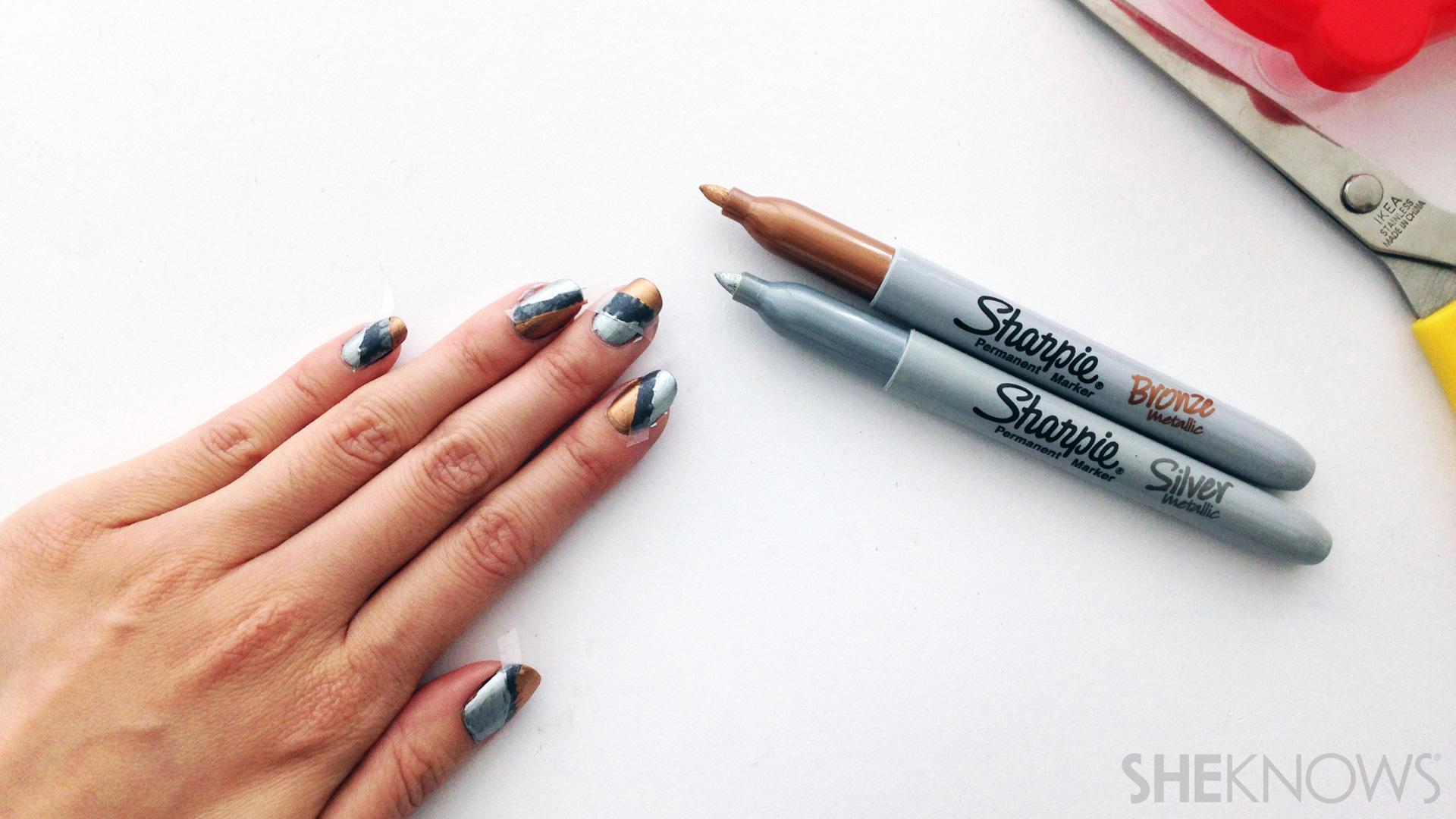 Crazy cool nail art you can create with common office supplies ...