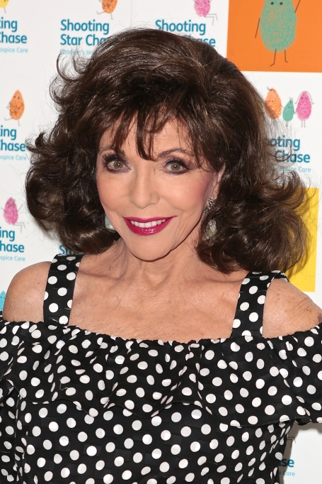 Joan Collins at Simon Cowell Afternoon Tea for children's hospice