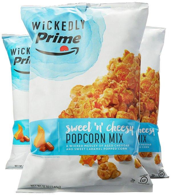 Wickedly Prime Sweet 'n' Cheesy Popcorn Mix, Caramel & Cheddar