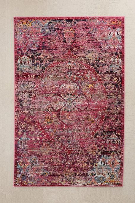 Carly floral tufted rug pink