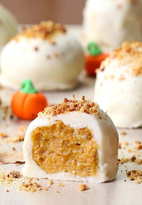 The Best Halloween Desserts on Pinterest: These creamy truffles are a real scream
