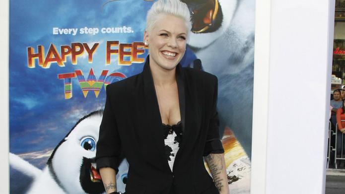 Pink goes nude for PETA's Rather