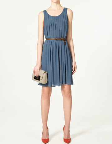 Royal blue Zara dress: Kate wore this the day after the royal wedding