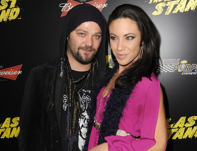 Bam Margera and Nicole Boyd arrive at the premiere of Lionsgate Films' 'The Last Stand'