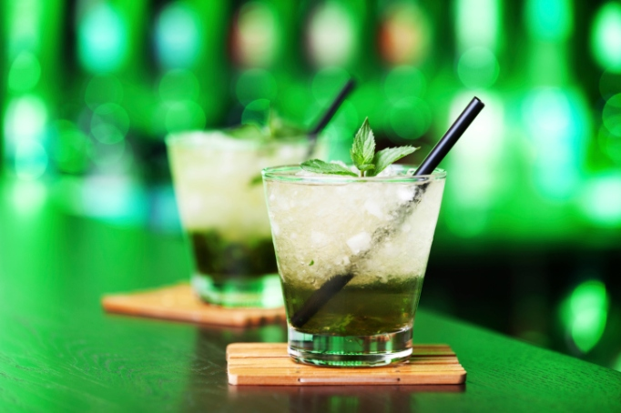Tequila mint julep cocktail