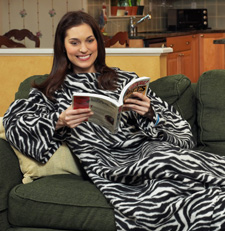 Zebra snuggie