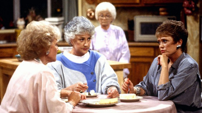 'The Golden Girls' sitting at a