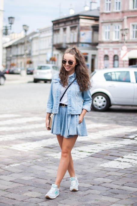 Bloggers Show You How to Wear Shorts for Fall : Kolorowa Dusza