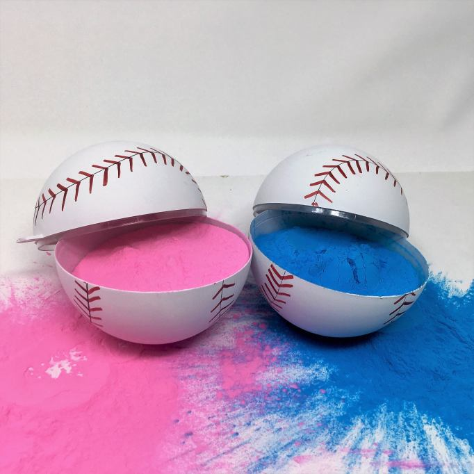 Gender Reveal Party Ideas You'll Actually Want to Copy: Exploding Baseballs