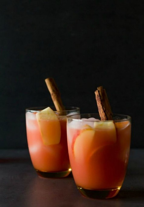 Spiked Apple Cider Recipes for All Your Fall Parties: caramel apple cider vodka punch