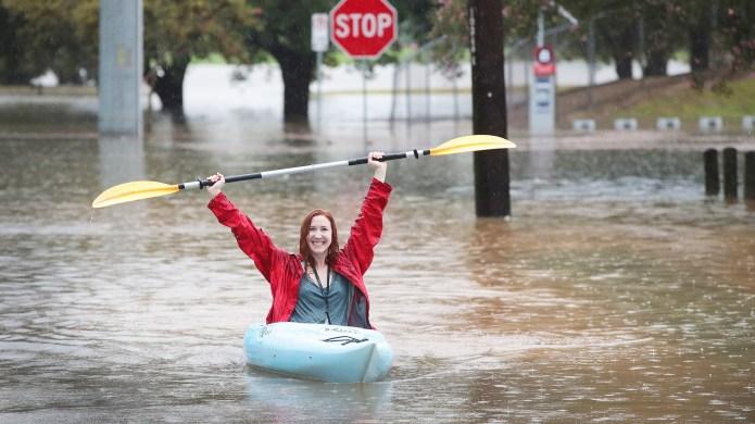 Houston-Area Pizza Hut Employees Used Kayaks