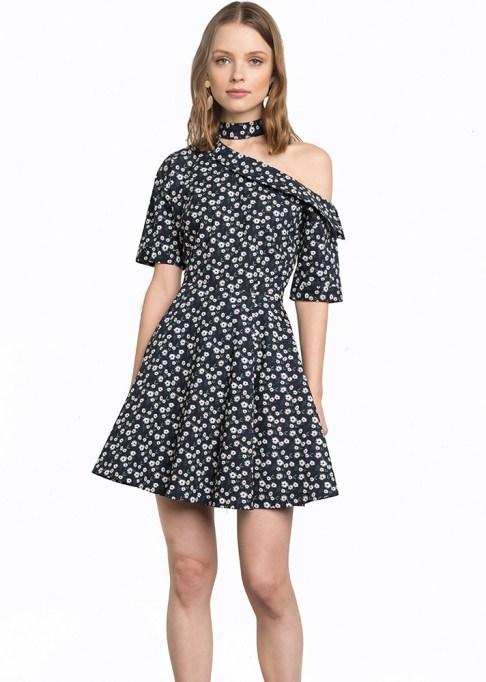 Summer Cocktail Dresses That Are Versatile: Pixie Market Navy Floral Choker Dress | Summer Fashion 2017