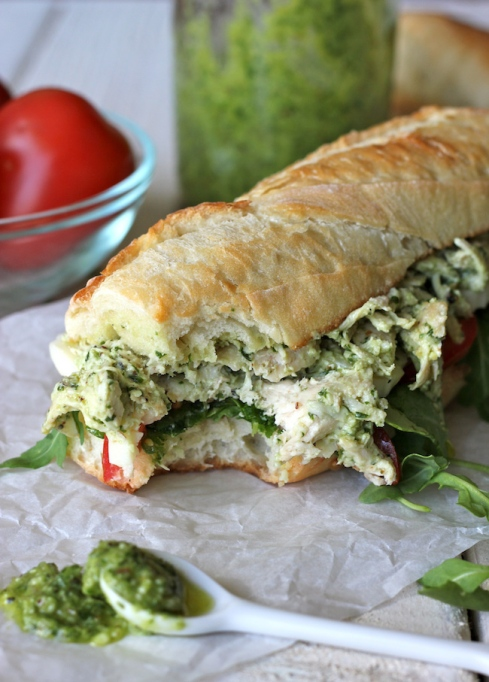 Sandwiches and Wraps for a Healthy Lunch | Chicken Pesto Sandwich