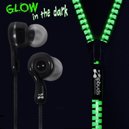 Glow in the dark ear buds