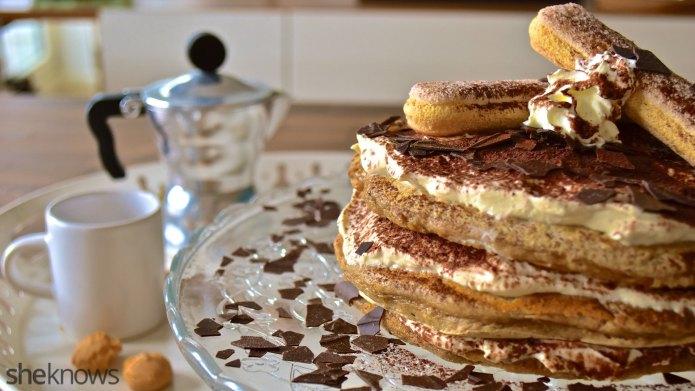 Tiramisu pancakes are the best breakfast-dessert